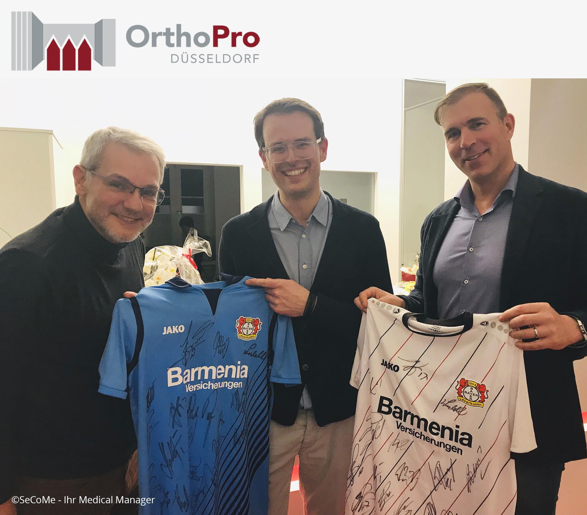 Die NRNW eG gratuliert Dr. Philipp Ehrenstein und Dr. Thilo Patzer zur Praxiseröffnung OrthoPro Düsseldorf