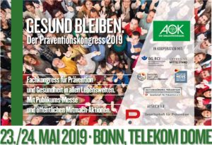 Präventionskongress im Telekom Dome am 23./24. Mai 2019 in Bonn