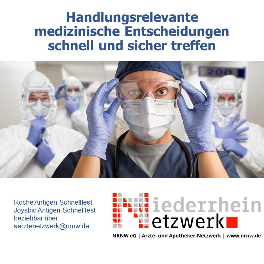 CoV-2 Antigen Schnelltest                                                                                             – handlungsrelevante medizinische Entscheidungen sicher und schnell treffen
